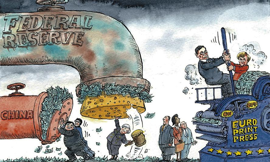 how quantitative easing destroys currencies' purchasing power
