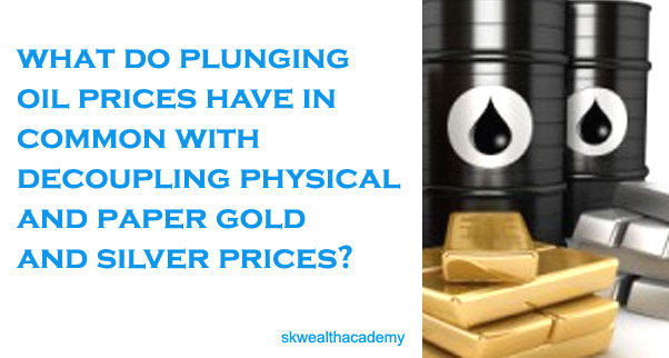 plunging crude oil prices