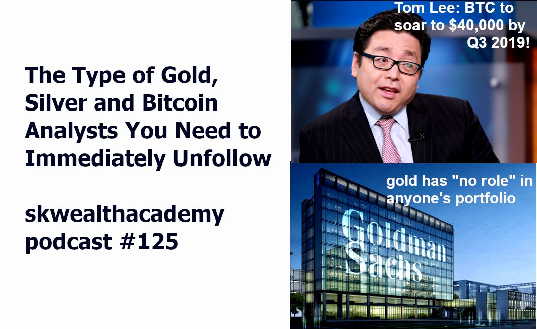 gold, silver and bitcoin analysts you should unfollow